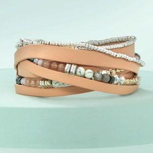 NIB Stella & Dot Yves Wrap Bracelet Blush